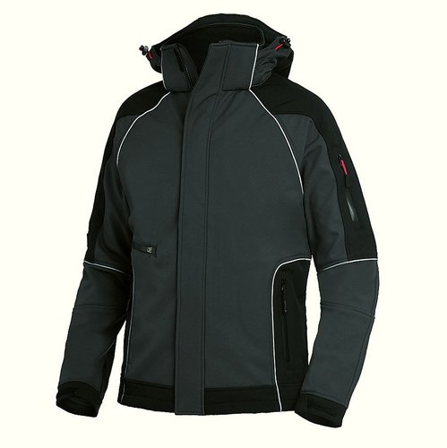 Winter Softshell-Jacke anthrazit-schwarz