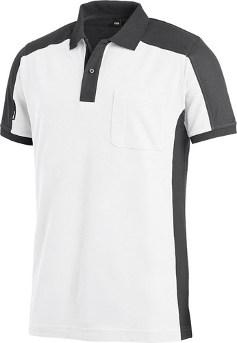 KONRAD Polo-Shirt weiß-anthrazit