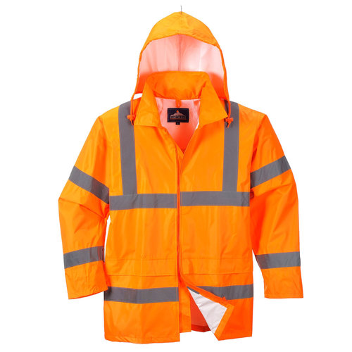 Regenjacke orange warnschutz