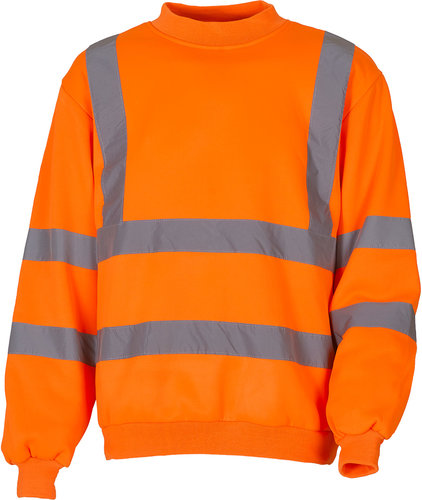 Warnschutz Sweatshirt orange